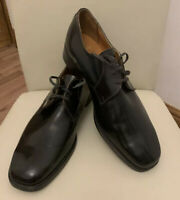 Vintage Mens British Airways Uniform Issue Black Shoes 10.5 VGC Made In England
