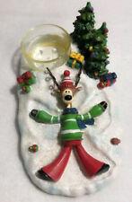 VTG 2011 Yankee Candle Tealight Holder Reindeer Angle Christmas Tree Home Decor