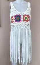 BNWT Boohoo Crochet Vest Size 8 10 Tassel Festival Boho Hippy Summer Top Cami