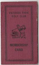 Victoria Park Queensland 1980/81 season golf membership card to L. G. Hobbs