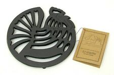 Old Mountain Cast Iron ROOSTER Trivet For Hot Skillets Home & Camping  #10189