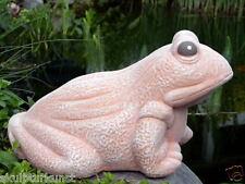 Steinfigur Frosch Teichdeko Gartenfigur Tierfigur Gartenskulptur frostfest