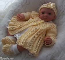 DK Baby Knitting Pattern 39 TO KNIT Girls or Reborn Dolls Matinee Set
