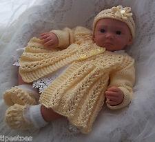 DK Baby Knitting Pattern 39 TO KNIT Girls or Reborn Dolls Matinee Set