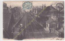 CPA 92270 BOIS COLOMBES la Gare animée quais rails  Edit BRETON ca1904