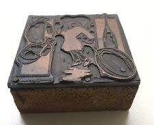 Vintage Printing Block Letter Press-Boxing Theme