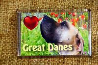 Great Dane Dog Gift Dog Fridge Magnet 77x51mm Xmas stocking filler UK Seller