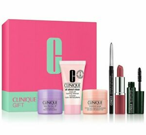 Clinique Gift Set Box 6 pc Quickliner Impact Mascara Moisture Surge NEW In Box