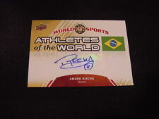 BEAUTIFUL Andre Rocha 2010 Upper Deck #AW-19 Athletes of the World Auto'd Card!