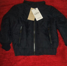 BNWT Boys 3-4 Years Marks and Spencer Black Stormwear Thermal Coat with Hood