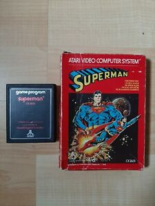 Atari 2600 Superman with box (video games)