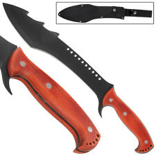 Devil's Dark Revenge Full Tang Sawback Fixed Blade Outdoor Machete