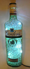 Gordons bottle (new label) lamp with crystals and LEDS