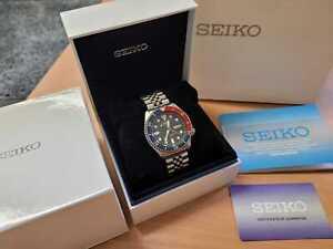 UNWORN! Seiko SKX009 J Japan Diver's watch 200m Pepsi on genuine jubilee boxed