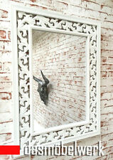 dasmöbelwerk Spiegel ROSALI Landhaus 60x80 cm Wandspiegel weiß Shabby 01.189.01