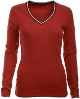 Tommy Hilfiger Damen Langarm T-Shirt, Long Sleeve Cotton T-Shirt, Alle Großen