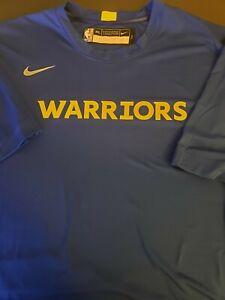 Nike NBA Dri-Fit Golden State Warriors Shirt Blue Size XXXL-TALL AV0931-495 NWT