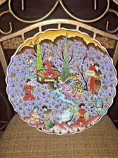 Authentic Persian Turkish Ceramic Handpainted  Kutahya Charger Painting