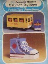 New listing Vintage Childrens Toy Ideas Plastic Canvas Needlepoint Pattern Booklet Cm