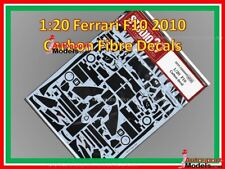 1/20 Ferrari F10 Studio 27 Templated Carbon Fibre Waterslide Decal Set