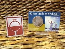 COINCARD NEDERLAND 5 EURO VREDES VIJFJE 2005 (60 jaar Vrede & Vrijheid) 925/1000