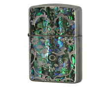 Zippo Mosaic Shell / Shell Inlay Antique Nickel / AN-A / RARE Model from JAPAN !