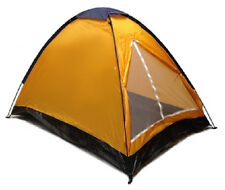 Nylon Backpacker Dome Tent 7' x 5'  2 Man Sealed Bottom Yellow/Orange/Blue