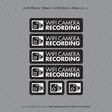 7 x WiFi Dash Cam Recording Stickers CCTV In Car Video Camera Sticker - SKU4067