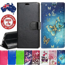 Premium PU Leather Wallet Case Gold Black Butterfly Cover For Oppo A57 A73 R15