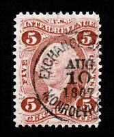 "U.S. REVENUE SCOTT #R24C ""CERTIFICATE"" EXCHANGE BANK MONROEVILLE OHIO SON 1867"