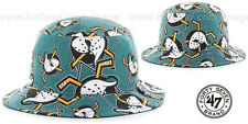 Mighty Ducks 'BRAVADO BUCKET' Hats by 47 Brand