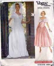 WEDDING DRESS PATTERN Sz 6 - 8 - 10 BRIDE MAID's Formal PROM VOGUE 2425