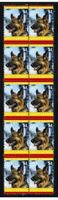 GERMAN SHEPHERD STRIP OF 10 MINT YEAR OF DOG VIGNETTE STAMPS 2