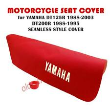 YAMAHA DT125R 1988-2003 DT200R 1988-1995 RED SEAMLESS SEAT COVER & STRAP