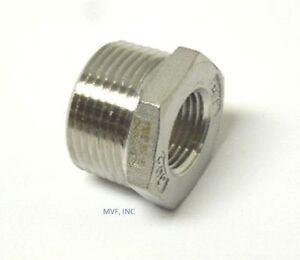 "3/4"" X 3/8"" 150# Cast Threaded (NPT) Hex Bushing 304 Stainless Steel <SS12050341"