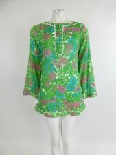Milly Cabana Multicoloured Floral V Neck Beach Dress Cover Up Kaftan Size Small