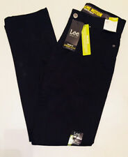 Lee Jeans Extreme Motion Straight Fit 5 Pocket Flex Waist 36X30 Stretch Black