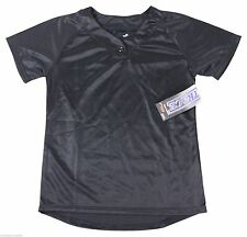 New Trace Girls Softball Jersey Youth Large Blank Black Tee Nwt Free Shipping !