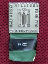 YUGOSLAVIA - BALKAN ATLETIC GAMES - CELJE 1976 - BREAST BADGE - PRESS