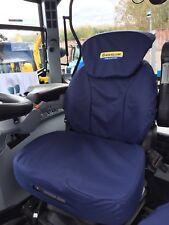 New Holland T6000 T6. T7. TSA Grammer Cubierta de asiento azul marino con logotipo Incluye Iva