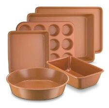 Marelight 6 PC Copper Nonstick Bakeware, infused loaf muffin cake pan