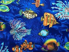 Cotton Quilt Fabric Tropical Fish Springs Industries  BTHY