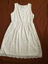 NWT FIRST LOOK All Lace White Pullover Sleeveless Dress XL (36B)