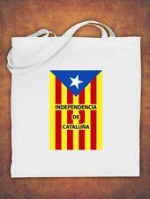 Tote Bag Catalonia Catalan Catalunya Independence Barcelona Espana Cotton White