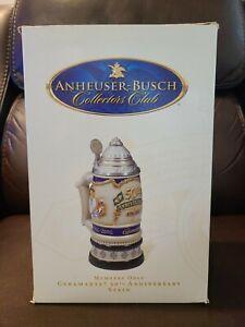 Anheuser-Busch Collectors Club Ceramarte 50th Anniversary Lidded Stein CB39