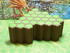 Expand Your Heroscape Battlefield with 12 24-Hex Grass Tiles - 288 Total Hexes