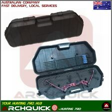 Compound Bow Case Archery Hunting Bow Hard Case Lockable Storage 12Arrow Holder