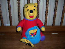 Disney Winnie The Pooh Plush Bear With Honey Pot Has Attached Baby Teether Toys