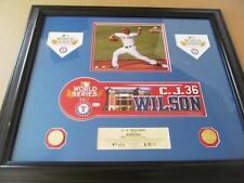 2011 World Series Nameplate - C J Wilson - Texas Rangers - 1 of 1 - Authentic