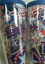 Pair of 2 Tervis Tumblers - MLB® Texas Rangers 24oz. Logo Baseball Insulated Cup